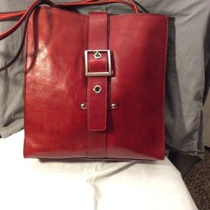 Red Wilson's Leather Bag